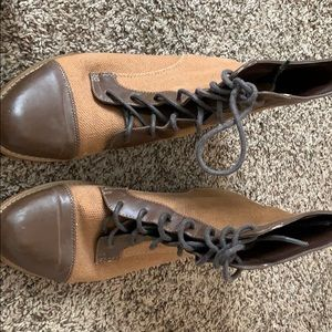 Kimichi Blue brown and tan ankle boots 7.5